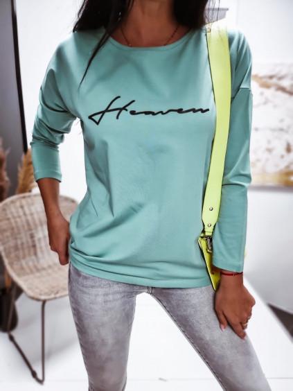 Dámske oversize tričko Heaven - zelené