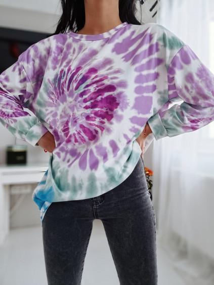 Dámska mikina Batik - fialová