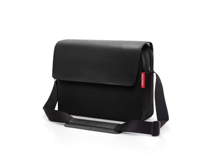 Unisex aktovka Courierbag 2 canvas black