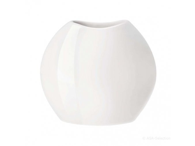 Váza MOON 34,5 cm bílá