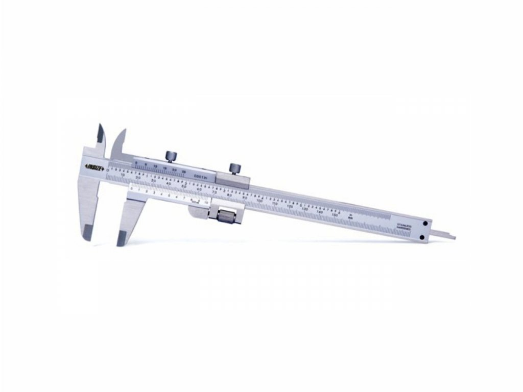 Posuvné měřítko INSIZE 180 mm s jemným seřizováním 1233 180