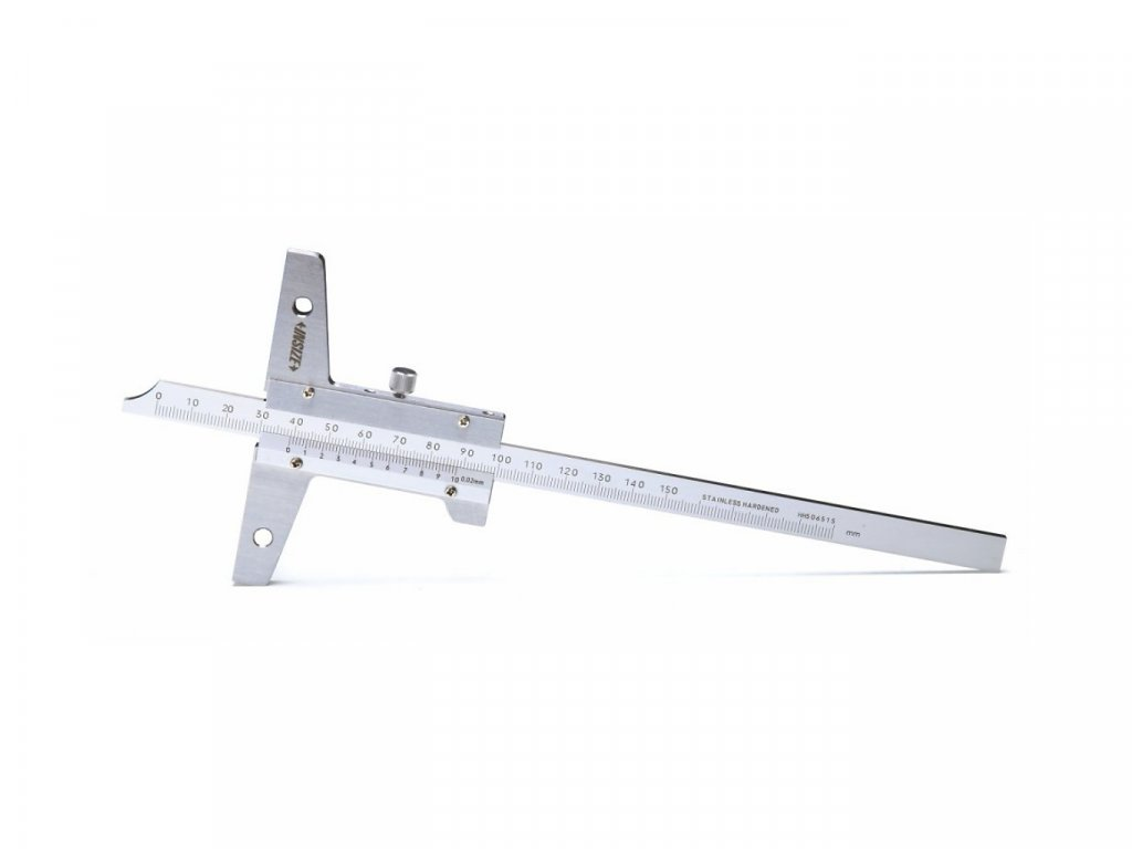 Hloubkoměr Insize 150 mm s otvory pro připevnění příčníku serie 1247