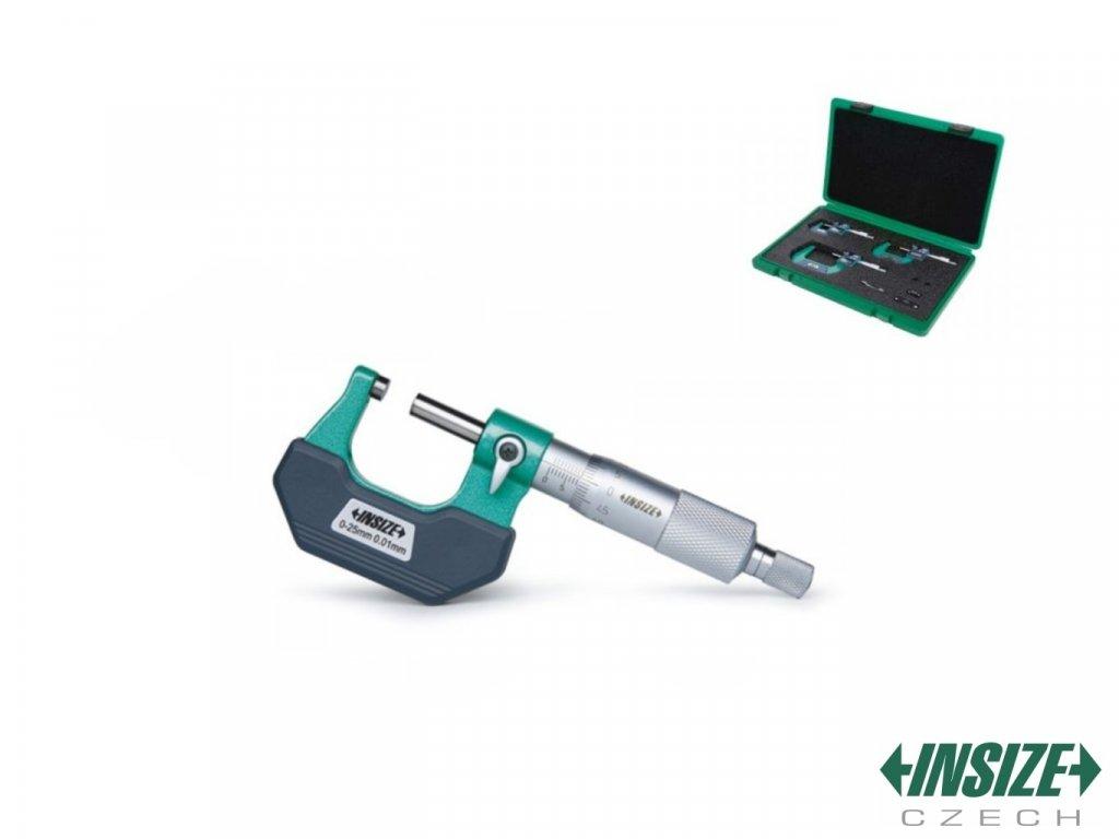 Set vnějších třmenových mikrometrů INSIZE 0 100 mm 3202 1004A