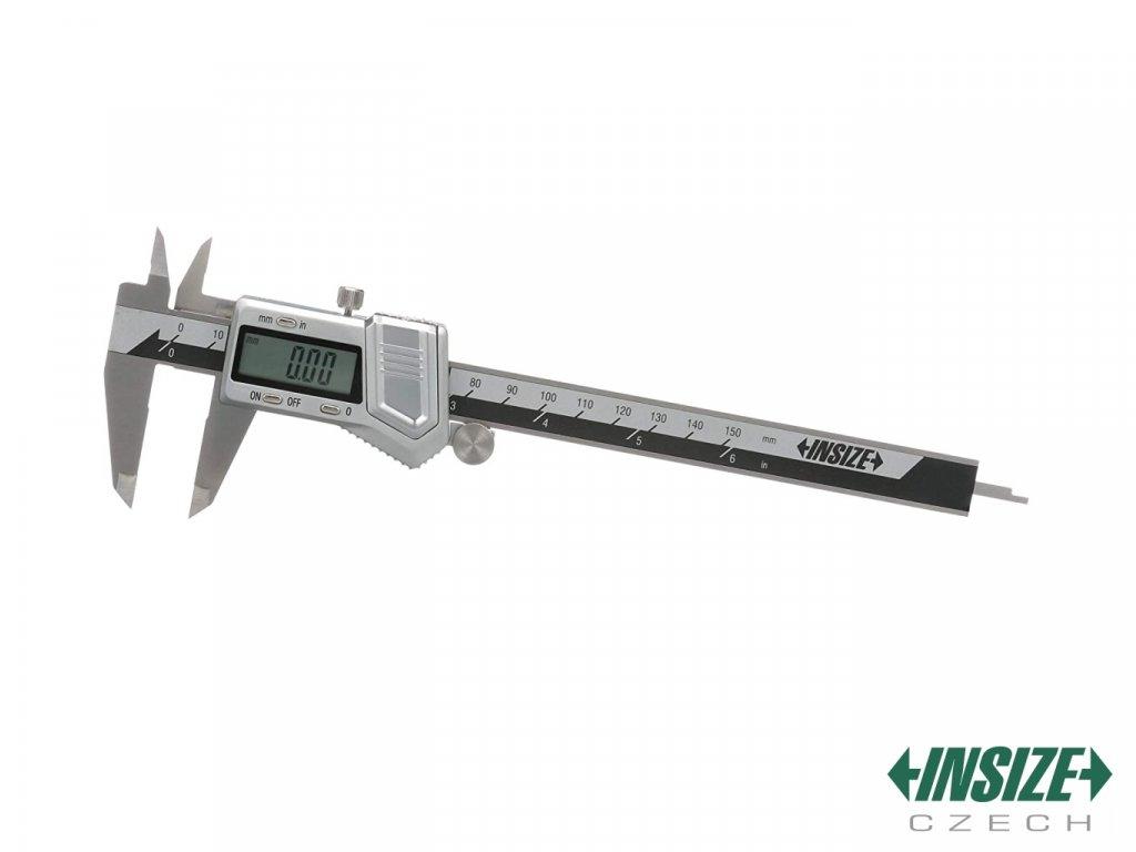 Digitální posuvné měřítko z nerezové oceli INSIZE 200 mm s posuvným kolečkem 1114 200A