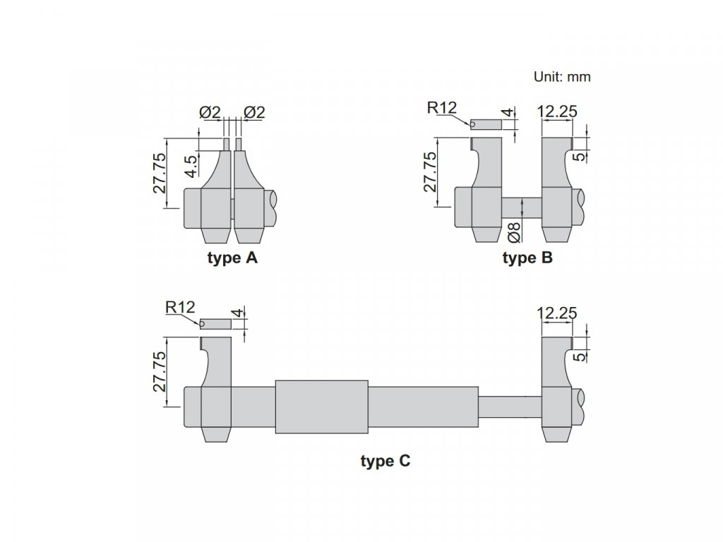 3520 50 Digitální třmenový mikrometr pro vnitřní měření INSIZE 50 mm