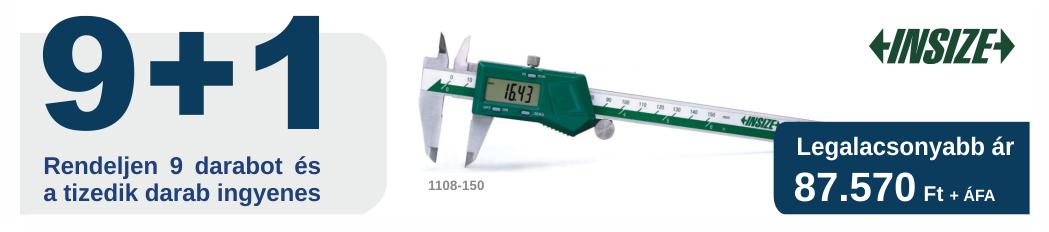 1108-150 digitális tolómérő 150 mm