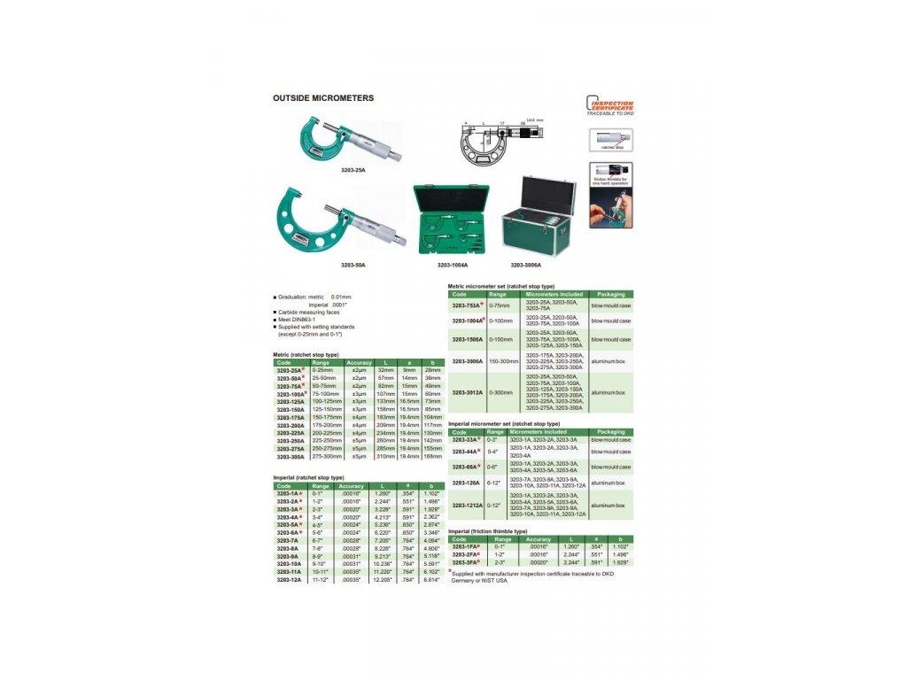 Insize-3203-50A-külső-mikrométer