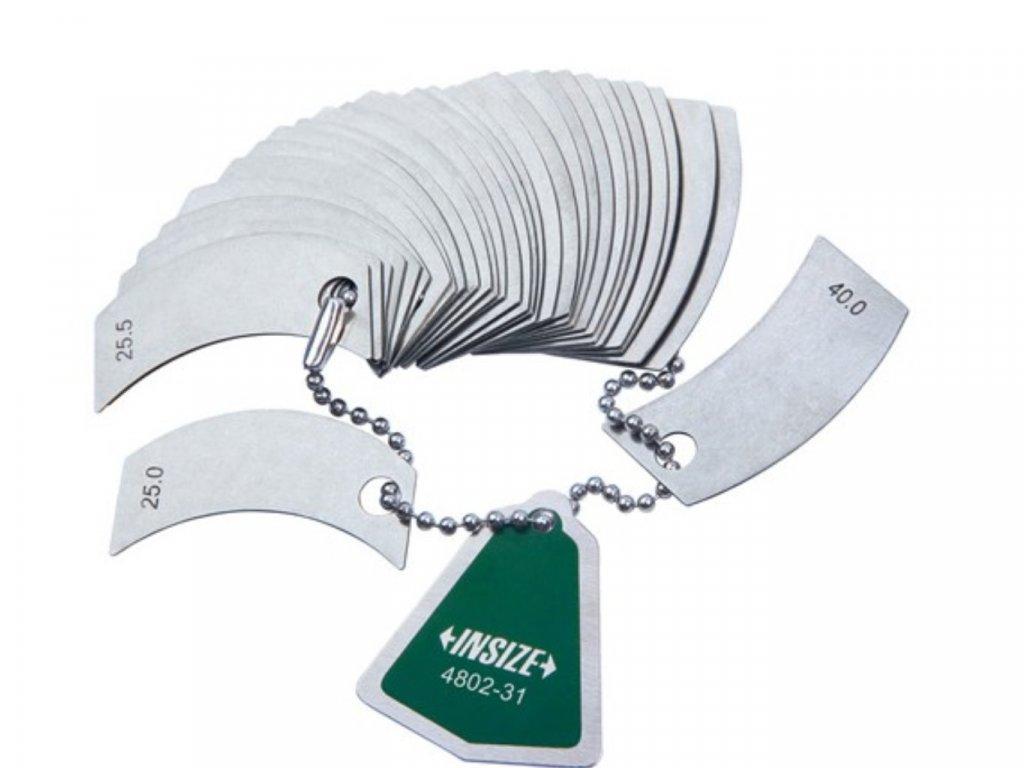 Insize-4802-rádiusz-mérő-sablon