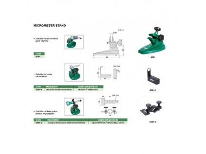 Insize-6301-külső-mikrométer-állvány
