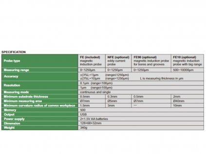 Insize-9501-1200-FE10-rétegvastagság-mérő-Fe10-szonda