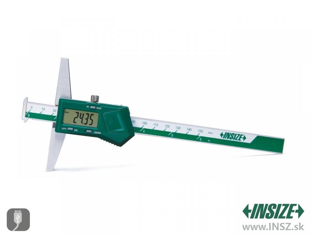 Digitální hloubkoměr s dvěma nosy Insize 150 mm 1144 150a