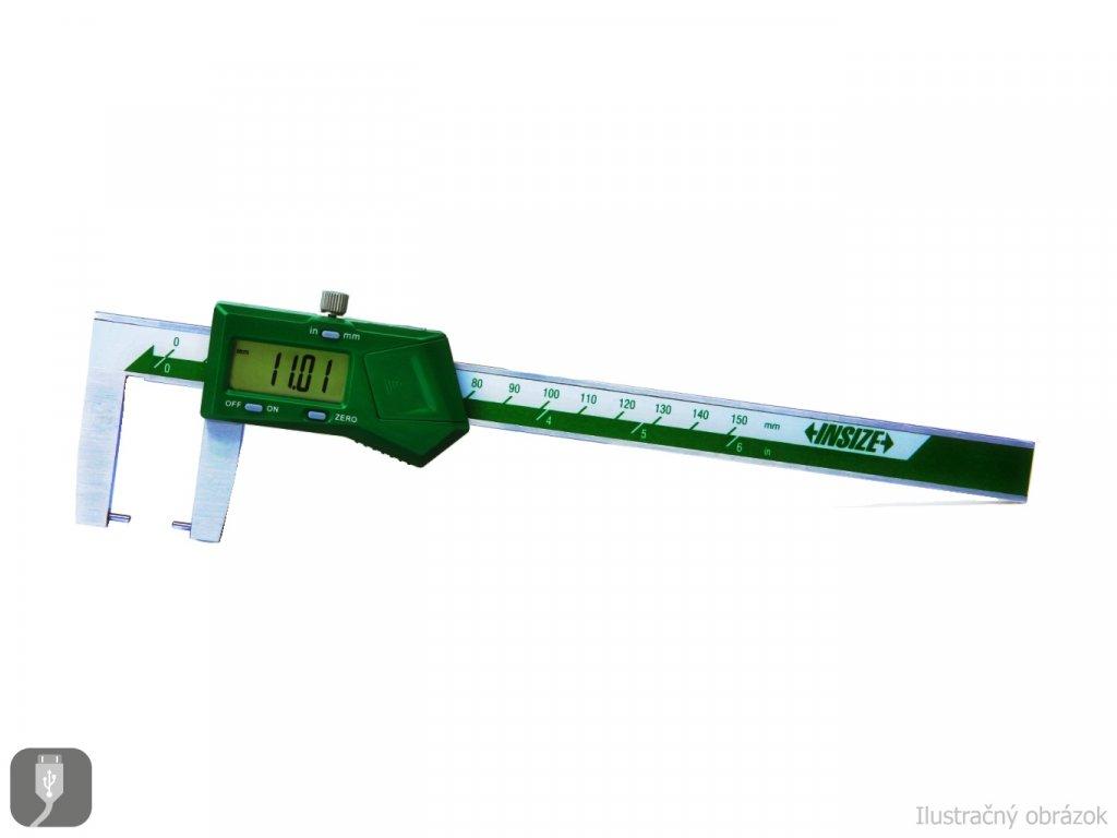 Digitální posuvné měřítko na vnější drážky INSIZE 150 mm 1185 150A
