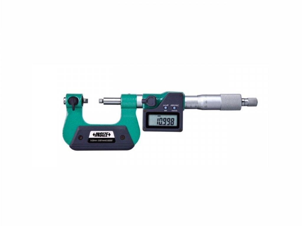 Digitální třmenový mikrometr se šroubovými doteky INSIZE 0 25 mm 3581 25a