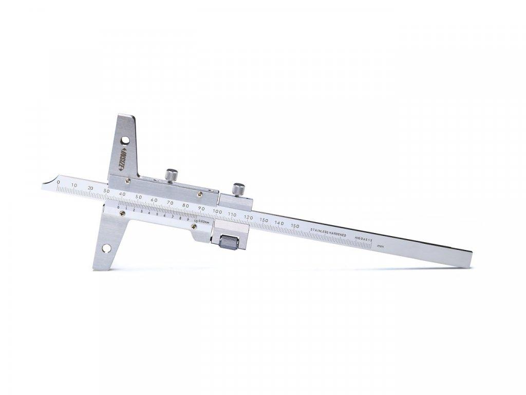 Hloubkoměr Insize s otvory pro připevnění příčníku s jemným nastavením 1249 serie