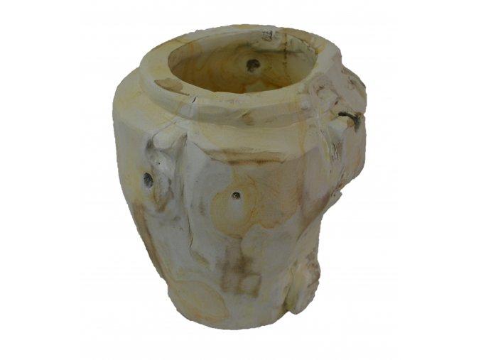 váza teak týk 32b bílá