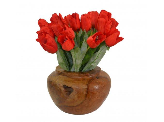 nádoba teak váza 40a