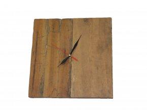nástěnné hodiny teak recycle čtverec