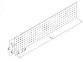 Záda pro stůl 800 VOGA  art. 30165