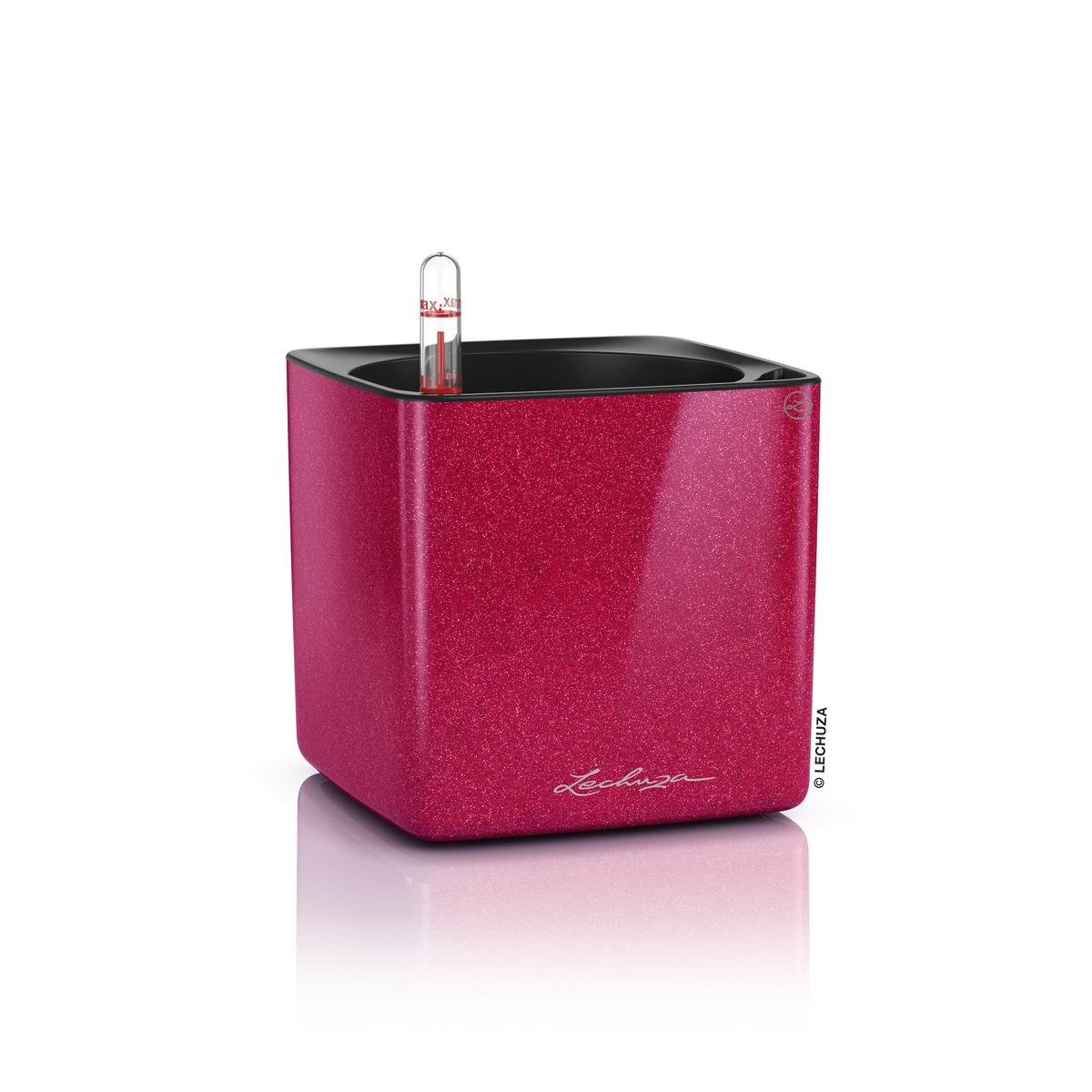Cube Glossy Lechuza stolový kvetináč