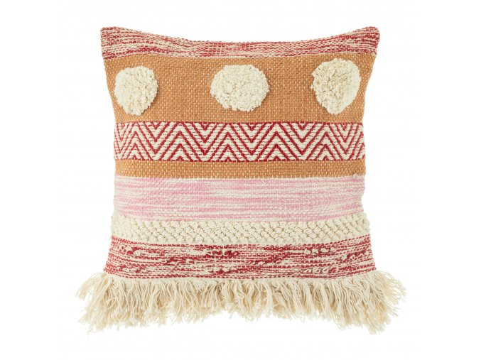 LEVI026 A Nevada Pink Stripe Cushion Front