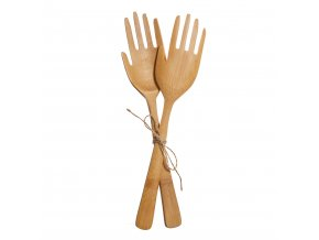 JQY025 A Hands Bamboo Salad Server