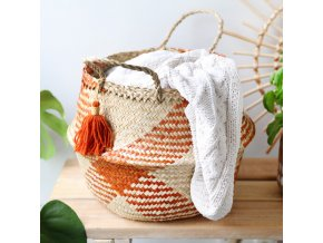 sass and belle terracotta check woven seagrass basket 0v8a1948 515x515