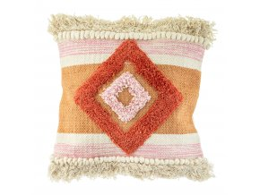 LEVI027 A Nevada Pink Tufted Cushion Front