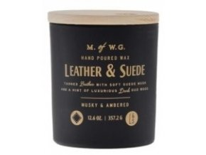 MAKERS OF WAX GOODS VONNÁ SVÍČKA VE SKLE LEATHER & SUEDE 12,6OZ