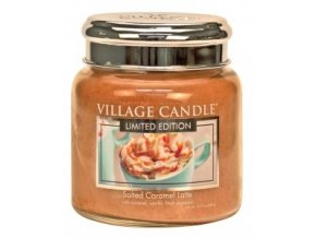 VILLAGE CANDLE VONNÁ SVÍČKA VE SKLE - SALTED CARAMEL LATTE, 16OZ