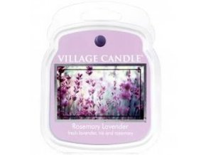 VILLAGE CANDLE VOSK, ROZMARÝN A LEVANDULE - ROSEMARY LAVENDER 62G