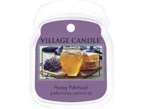 VILLAGE CANDLE VOSK, MED A PAČULI - HONEY PATCHOULI, 62g