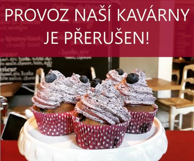Provoz naší kavárny a obchodu s dekoracemi v Opletalově ulicije PŘERUŠEN!
