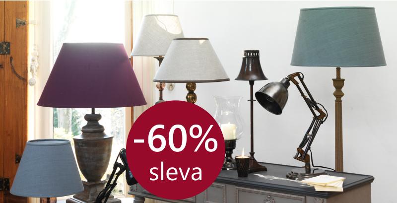 Lampy, lustry, lampičky se slevou 60%