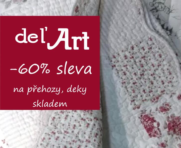 Využijte 60% slevy na deky a přehozy.