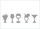 Skleničky, sklenice na víno a karafy