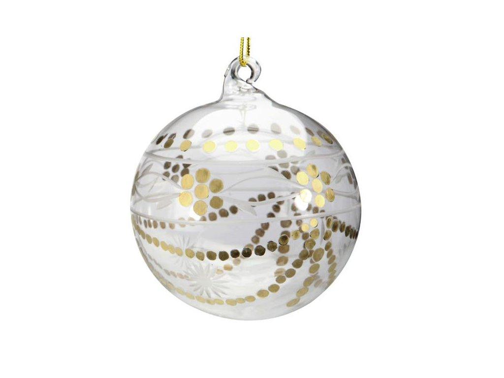 Vánoční ozdoba Koule zdobené tečkami