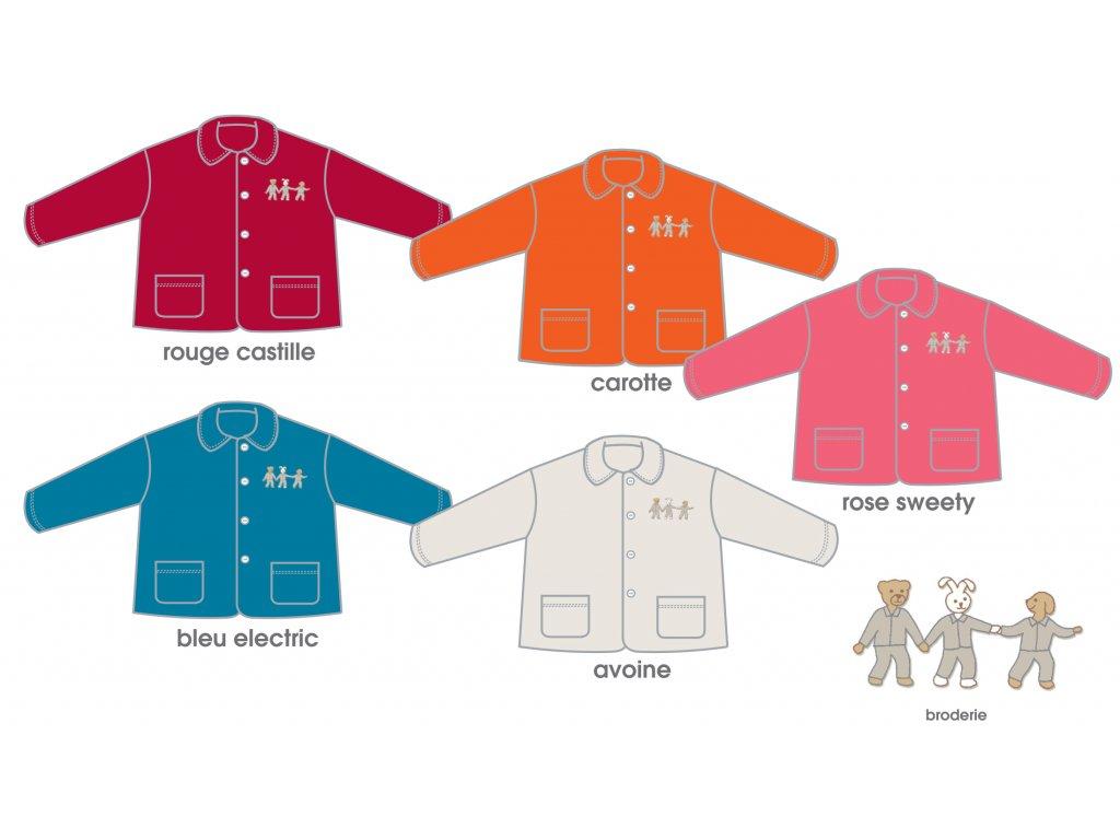 ROSE SWEETY Dětská fleece košile 2 ROKY