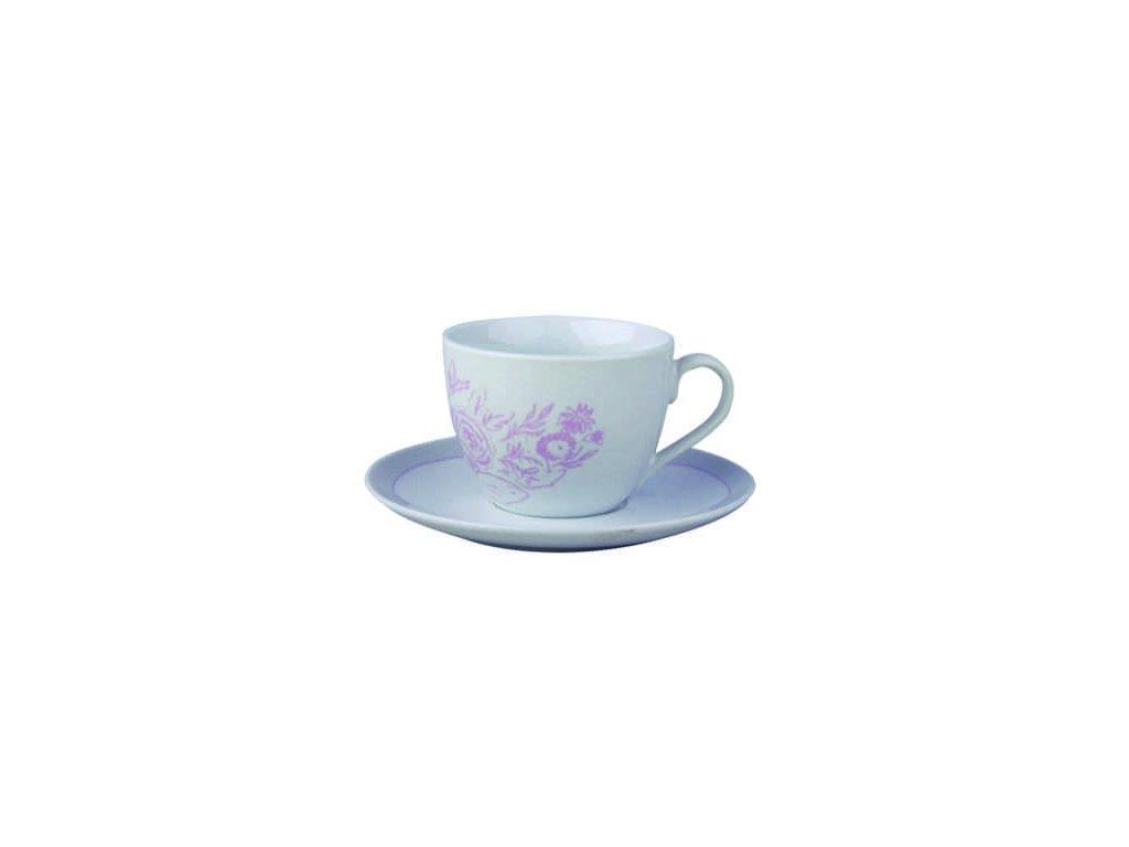 Šálek s podšálkem květinový vzor Shabby Chic