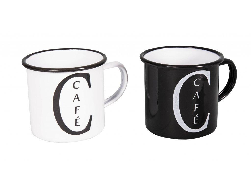 Hrnek Cafe noir et blanc - 2 varianty