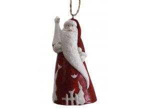 Vánoční ozdoba Santa dlouhý vous