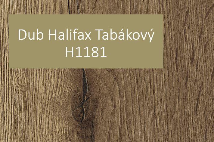 Podlahy a dveře k Dubu Halifaxu Tabákovému H1181!