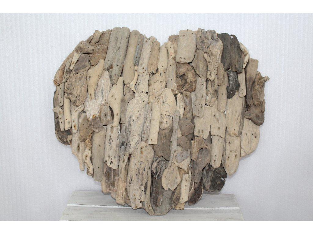 Srdce z plaveného dřeva