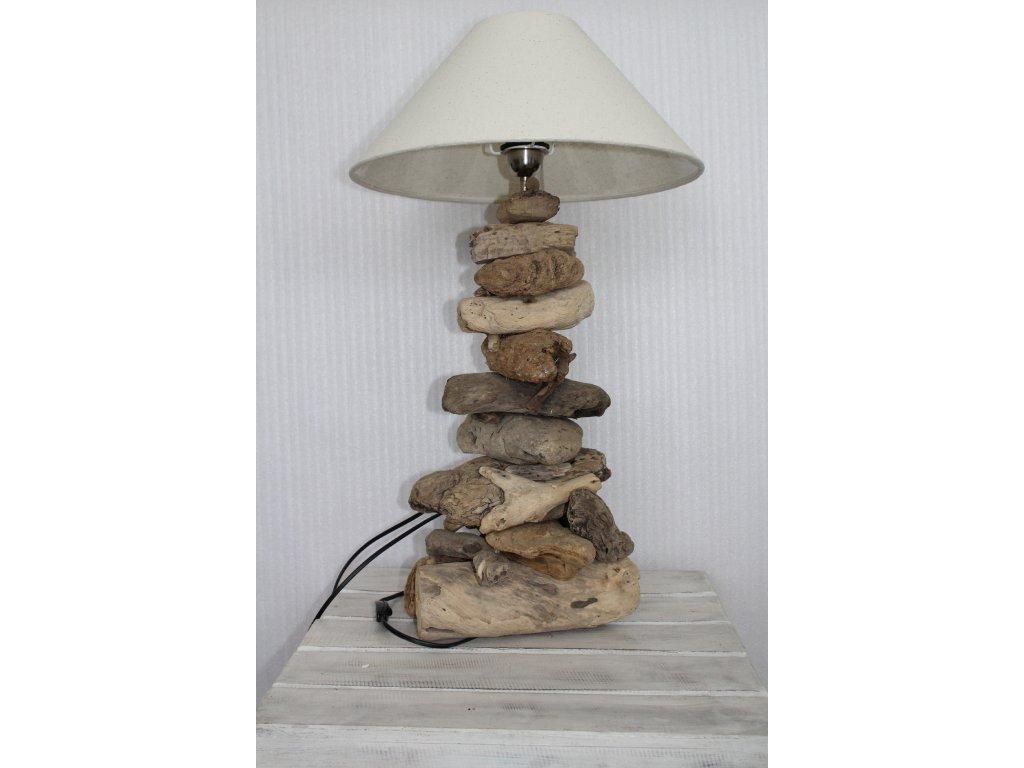 Lampa- plavené dřevo
