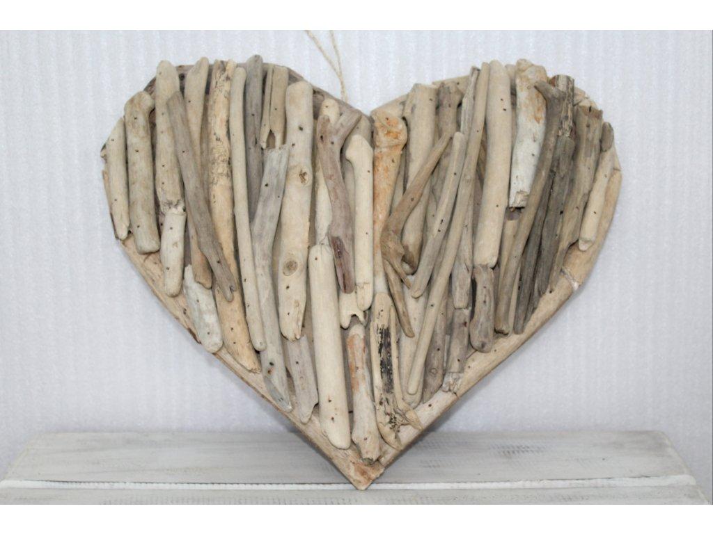 Srdíčko- plavené dřevo