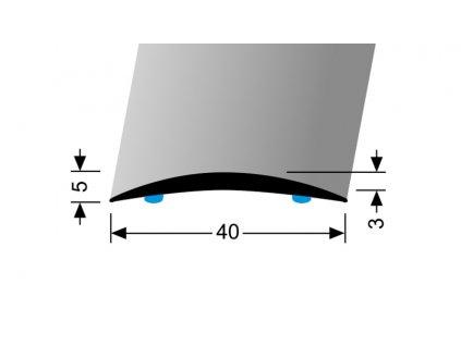 Přechodový profil 40 mm, oblý Küberit 462 SK