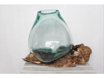 Dekorace sklo/dřevo