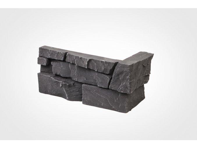 Obklad imitace kamene Bastida tmavá - roh