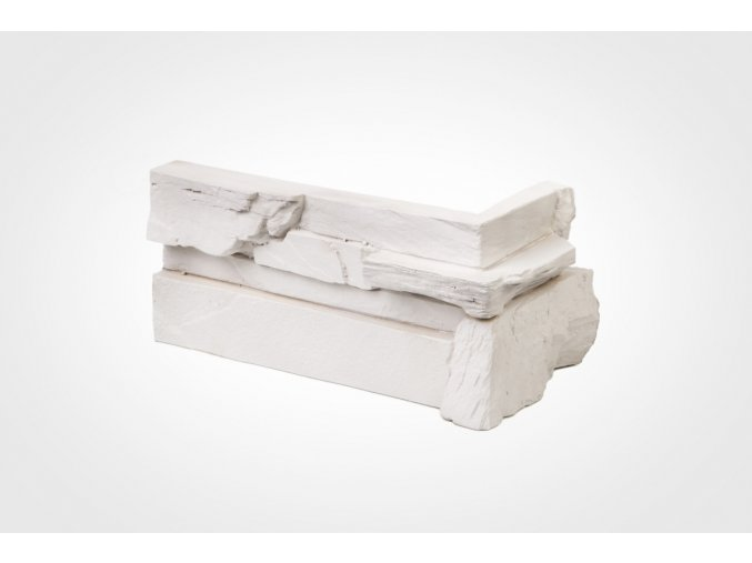 Obklad imitace kamene Bastida bílá - roh
