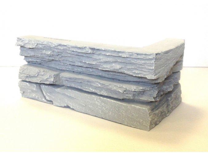 Obklad imitace kamene SW šedý - roh