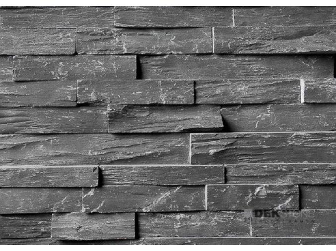 Břidlice černá rustikální 55x15cm N3003